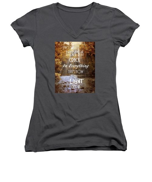 Leonard Cohen Quote Women's V-Neck
