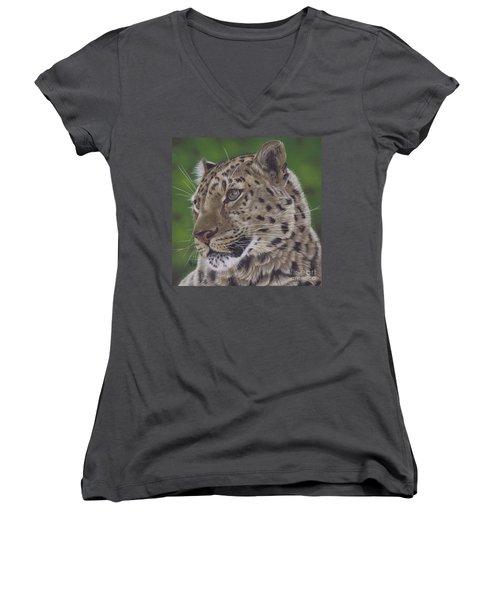Leopard Women's V-Neck