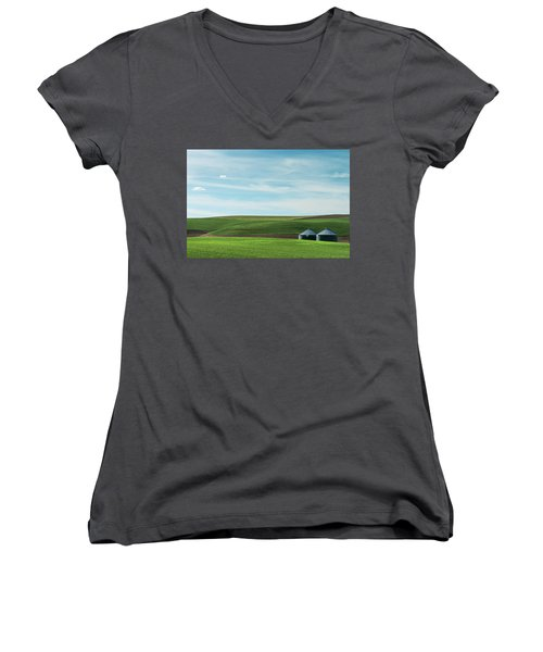 Less Is More. Women's V-Neck