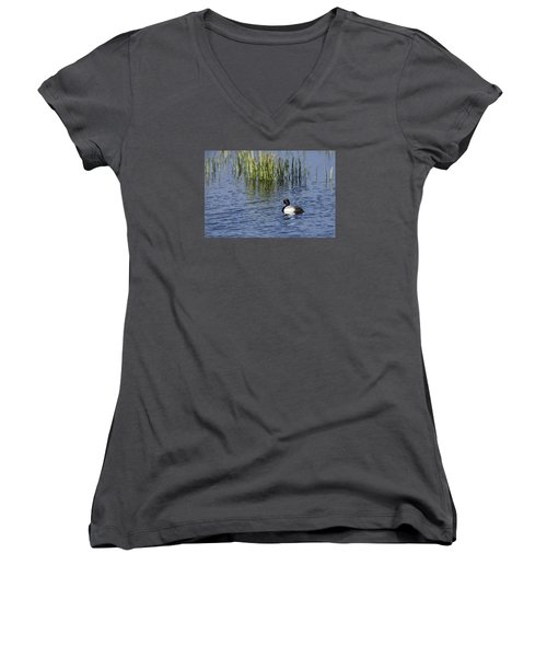 Lesser Scaup Adult Male Women's V-Neck