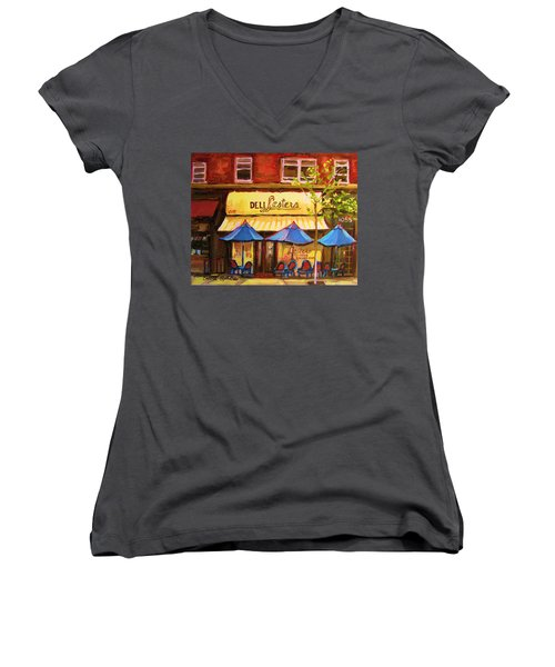 Lesters Cafe Women's V-Neck
