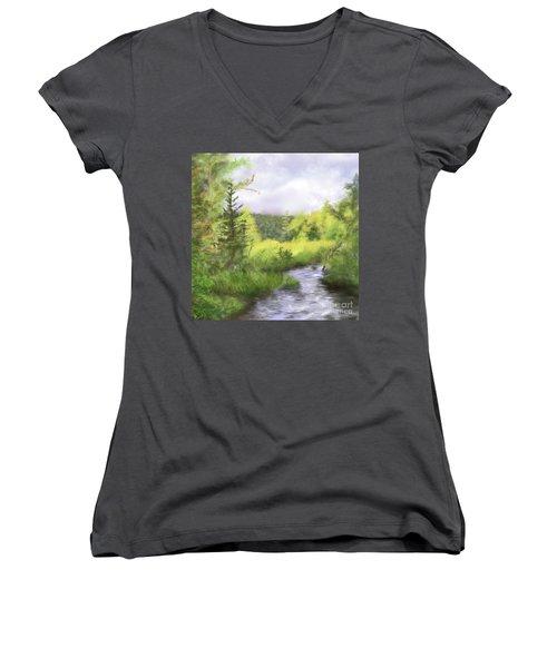 Let The Light Shine In. Women's V-Neck T-Shirt