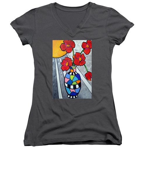 Let The Sun Shine On Women's V-Neck T-Shirt