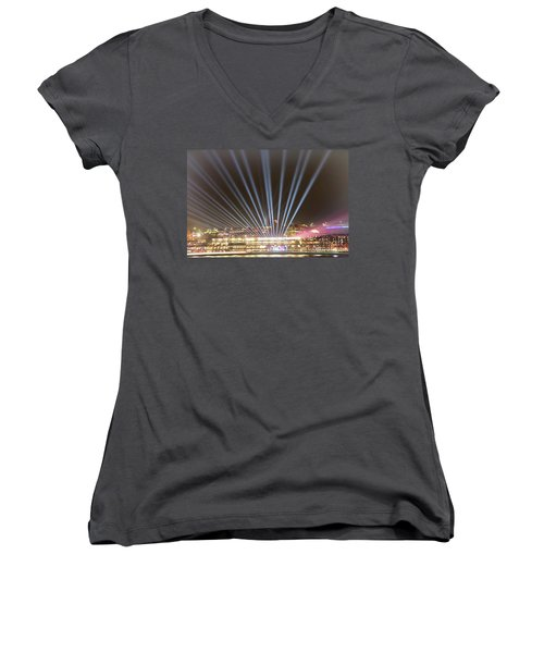 Women's V-Neck T-Shirt featuring the photograph Let There Be Light By Kaye Menner by Kaye Menner