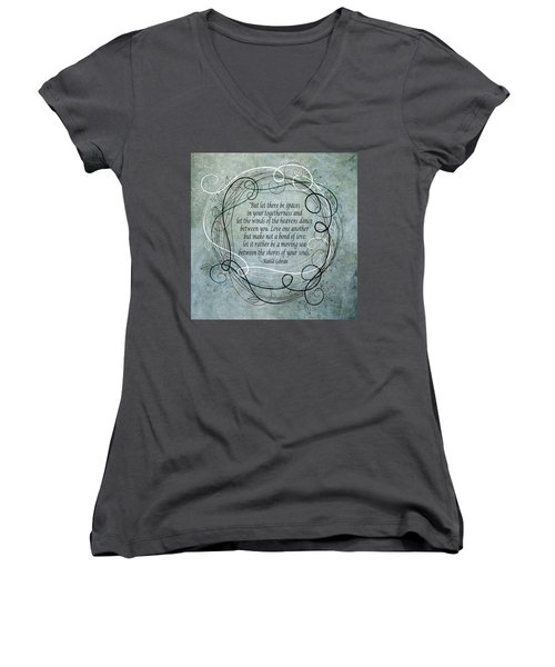 Let There Be Spaces Women's V-Neck