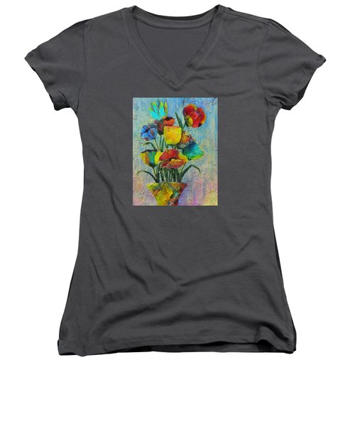 Let Your Individualism Stand Out Women's V-Neck T-Shirt (Junior Cut) by Terry Honstead