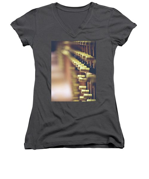 Women's V-Neck T-Shirt (Junior Cut) featuring the photograph Let's Crack One Open by Trish Mistric