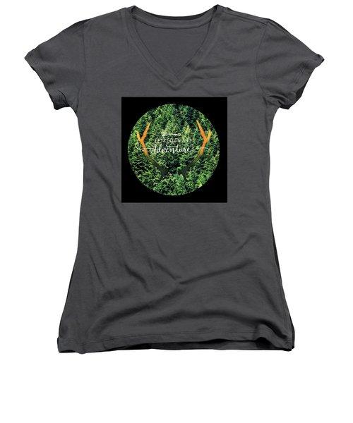 Let's Go On An Adventure Women's V-Neck T-Shirt