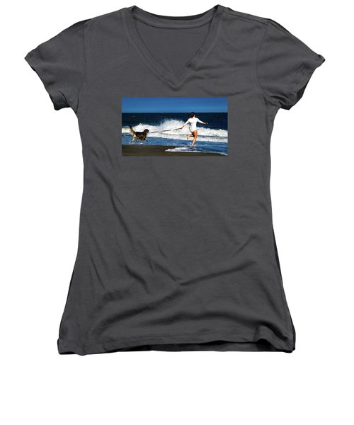 Let's Play In The Water Women's V-Neck