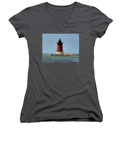 Lewes Lighthouse Women's V-Neck (Athletic Fit)