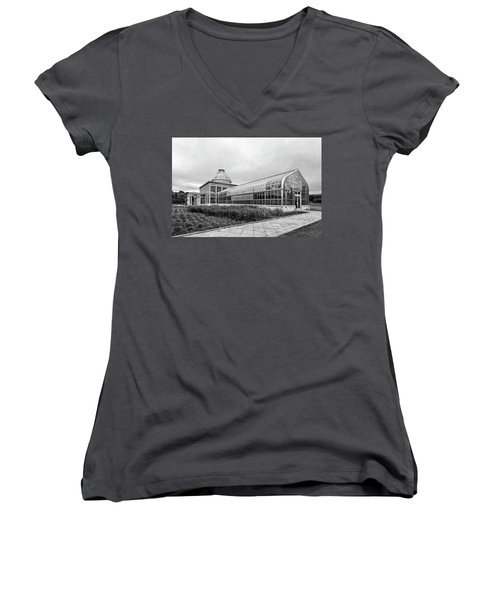 Women's V-Neck T-Shirt featuring the photograph Lewis Ginter Greenhouse by Alan Raasch