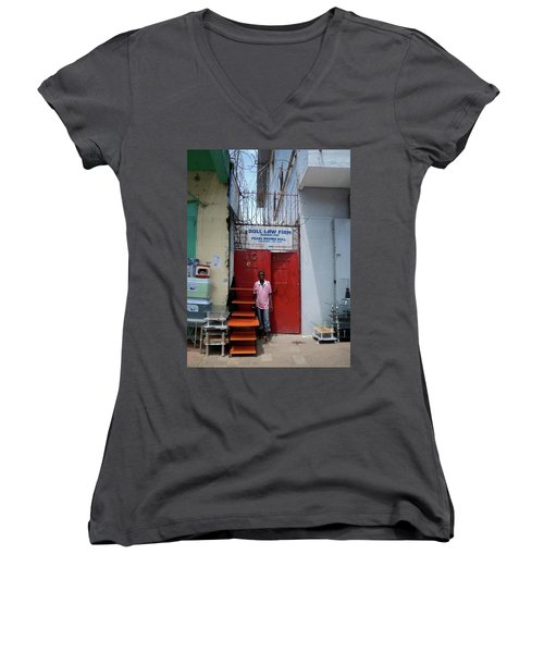 Liberian Lawyer Women's V-Neck T-Shirt