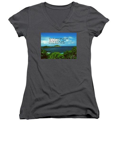 Liberty Women's V-Neck T-Shirt (Junior Cut) by Gary Wonning