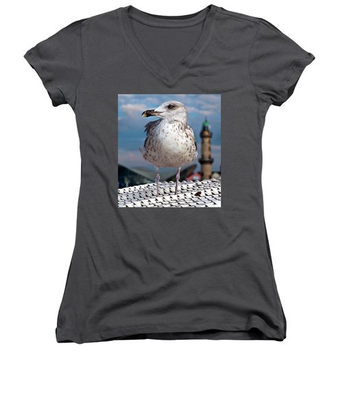 Liberty Of An Pacific Gull Women's V-Neck