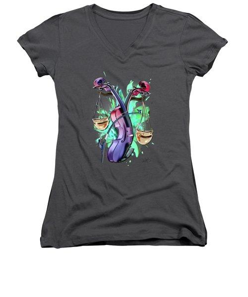 Libra Women's V-Neck T-Shirt