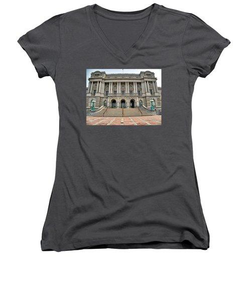 Library Of Congress Women's V-Neck T-Shirt