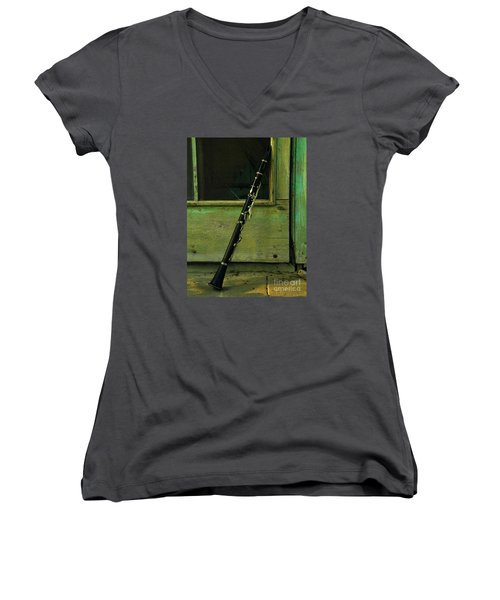 Licorice Stick Women's V-Neck (Athletic Fit)