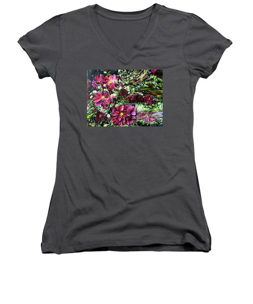 Life In A Bloom Field Women's V-Neck (Athletic Fit)