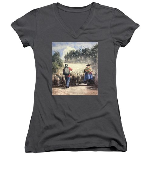 Life In Peru Women's V-Neck (Athletic Fit)