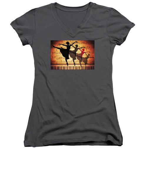 Life Is Music Women's V-Neck (Athletic Fit)