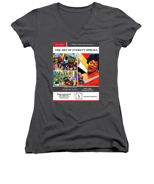 Lifespace Exhibition Poster Women's V-Neck (Athletic Fit)