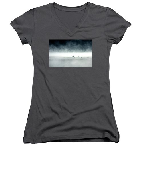 Lift-off Women's V-Neck T-Shirt (Junior Cut) by Brian N Duram