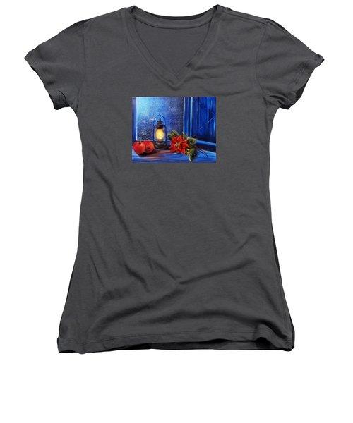 Light 2 Women's V-Neck T-Shirt (Junior Cut) by Vesna Martinjak