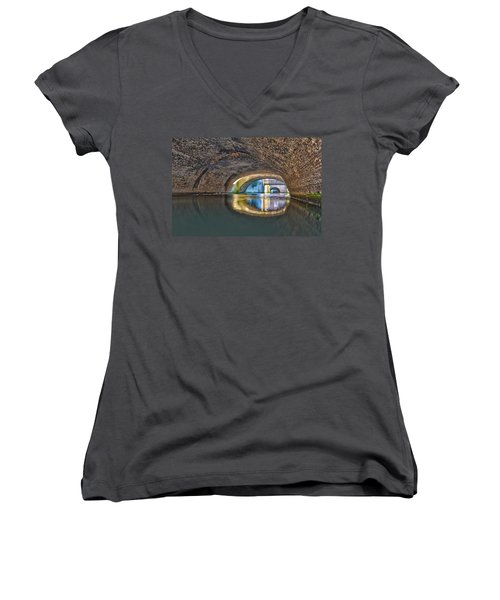 Light At The End Of The Tunnel Women's V-Neck T-Shirt (Junior Cut) by Frans Blok