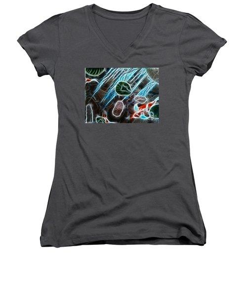 Light Dancing Koi Women's V-Neck T-Shirt