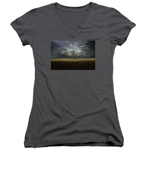 Light From The Heavens Women's V-Neck (Athletic Fit)