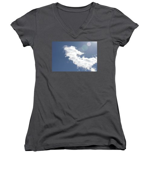Light In Cloud Flare Women's V-Neck (Athletic Fit)