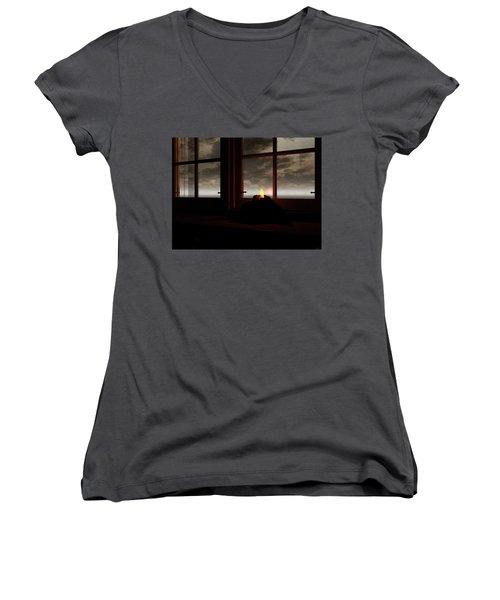 Light In The Window Women's V-Neck T-Shirt