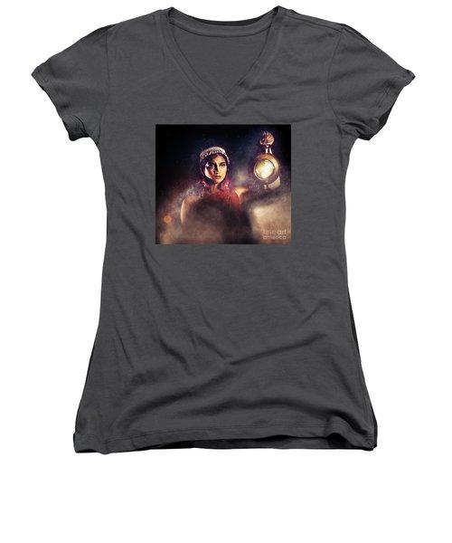 Light My Path Women's V-Neck T-Shirt