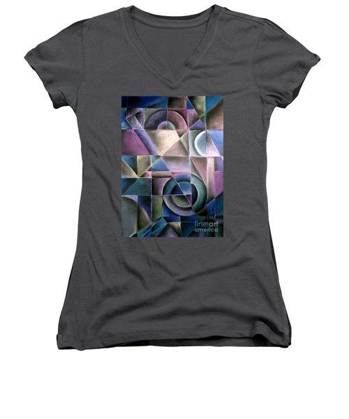 Light Patterns 1 Women's V-Neck T-Shirt