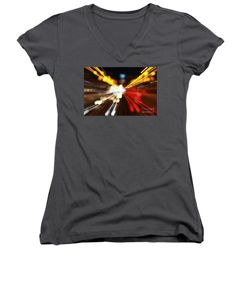 Light Trails Women's V-Neck