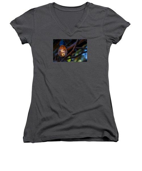 Lightbulb Women's V-Neck T-Shirt