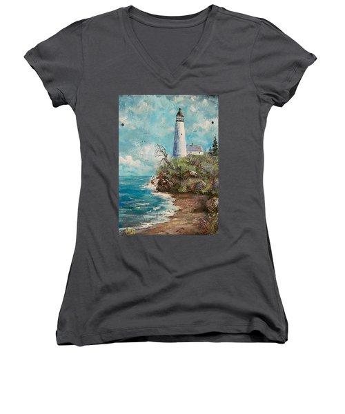 Lighthouse Women's V-Neck (Athletic Fit)