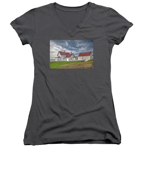 Keepers House At The Monheagn Lighthouse Women's V-Neck