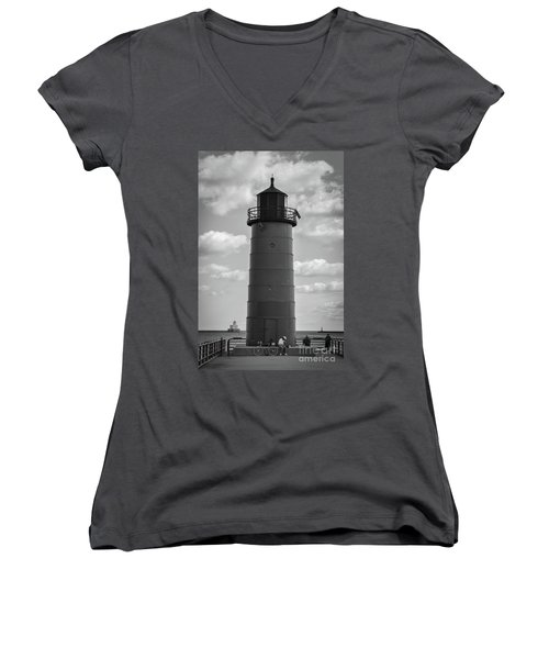 Lighthouses Of Milwaukee Women's V-Neck T-Shirt