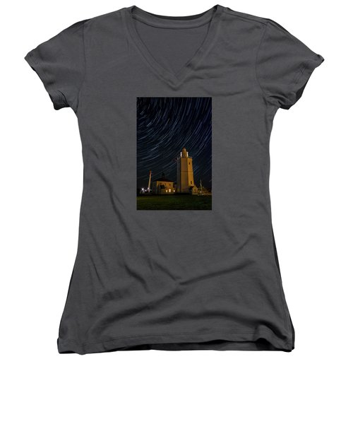 Lighting The Sky Women's V-Neck (Athletic Fit)