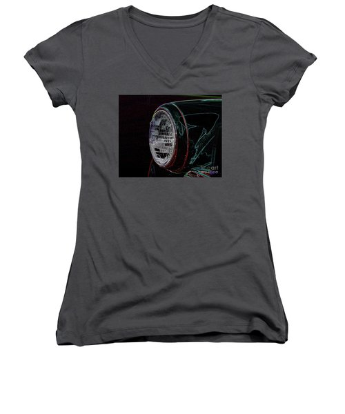 Lighting The Way Women's V-Neck T-Shirt (Junior Cut) by Vicki Pelham