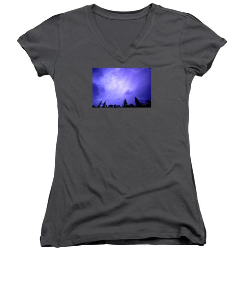 Lightning Storm Women's V-Neck