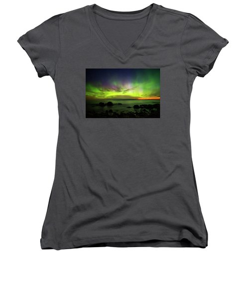 Lights 2 Women's V-Neck T-Shirt
