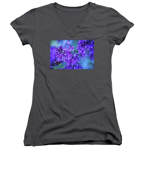 Lilac Blues Women's V-Neck (Athletic Fit)
