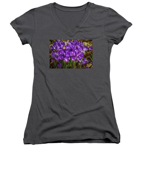 Lilac Crocus #g2 Women's V-Neck