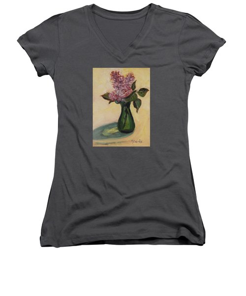 Lilac Reflections Women's V-Neck T-Shirt