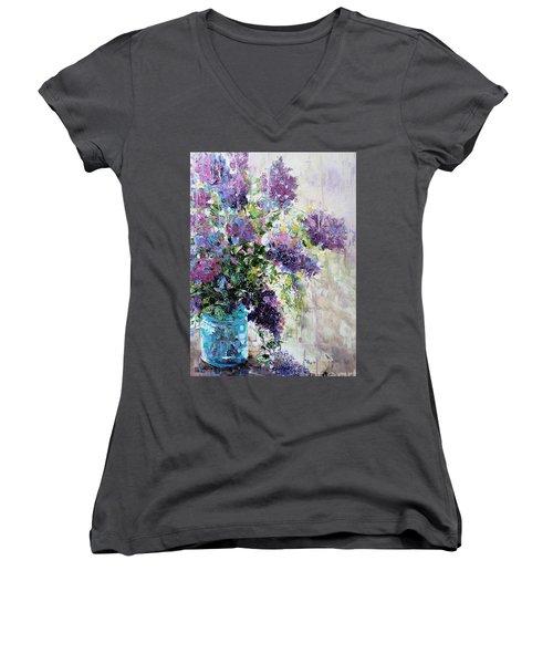 Lilacs Women's V-Neck T-Shirt
