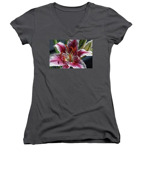 Lilly Up Close Women's V-Neck T-Shirt