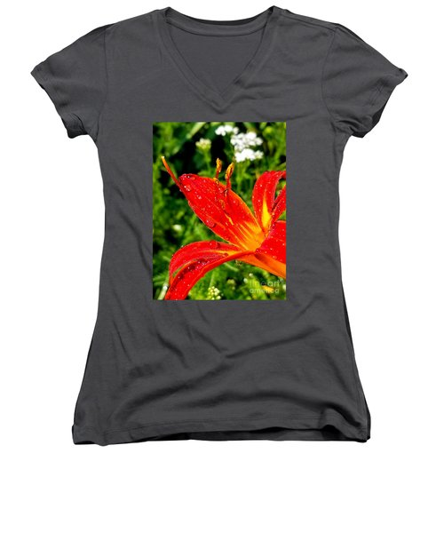 Lily And Raindrops Women's V-Neck