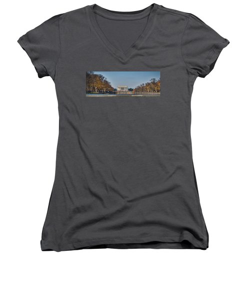 Lincoln From Afar Women's V-Neck (Athletic Fit)